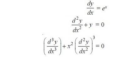 order of a differential equation