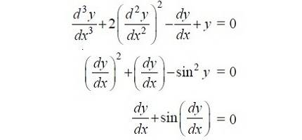 degree of a differential equation