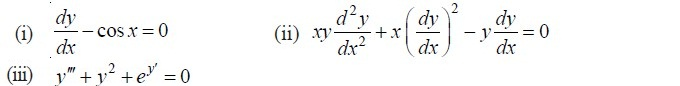 order and degree of a differential equation