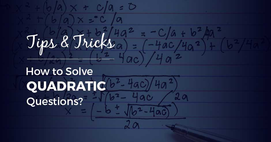 how to solve quadratic written equations