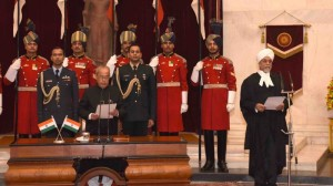 Justice Jagdish Singh Khehar sworn-in as the Chief Justice of India