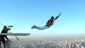 Chinese base jumper achieves world-first