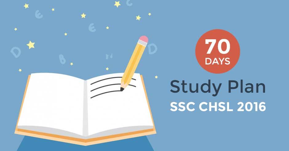 SSC CHSL 2016 70 Days Study Plan
